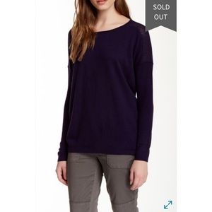 Vince Perforated Cashmere Sweater in Grape